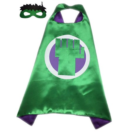 Marvel Comics Costume - Hulk Fist Logo Cape and Mask with Gift Box by Superheroes - Marvel Superhero Costume