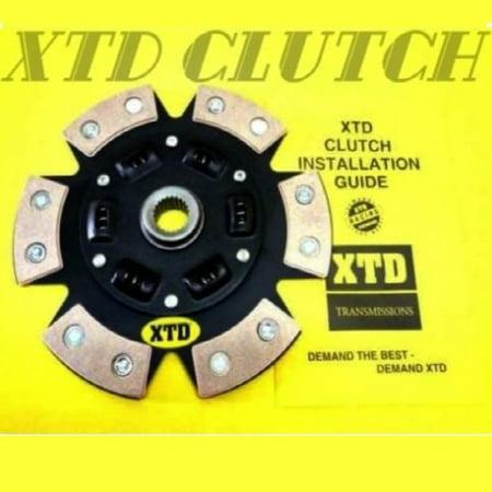 XTD STAGE 3 CERAMIC MIBA 6 PUCK SPRUNG CLUTCH DISC FITS FORD KIA MERCURY MAZDA