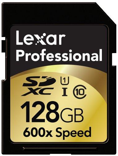 Lexar Professional 600x 128GB SDXC UHS-I Flash Memory Card LSD128CTBNA600 by Lexar