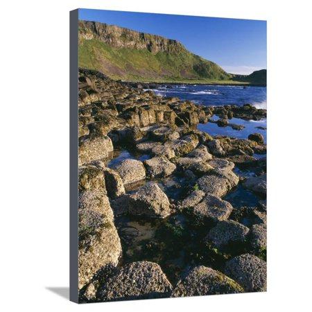 Ireland Giant's Causeway, Hexagonal Basalt Columns Stretched Canvas Print Wall Art