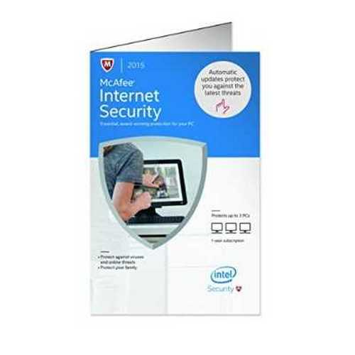 McAfee Internet Security 2015 3 PCs, 1-Year Subscription MIS15EWD3RAA