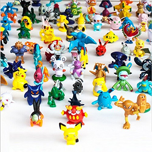OliaDesign Pokemon Pikachu Monster Mini Action Figures Toy (Lot of 24 Piece), 1""