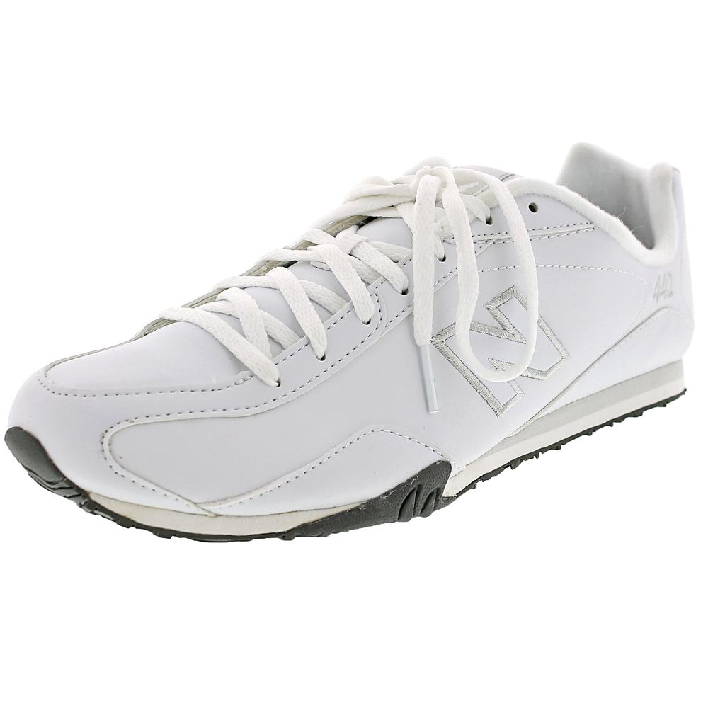New Balance CW442 Women D Round Toe Leather White Cross T...
