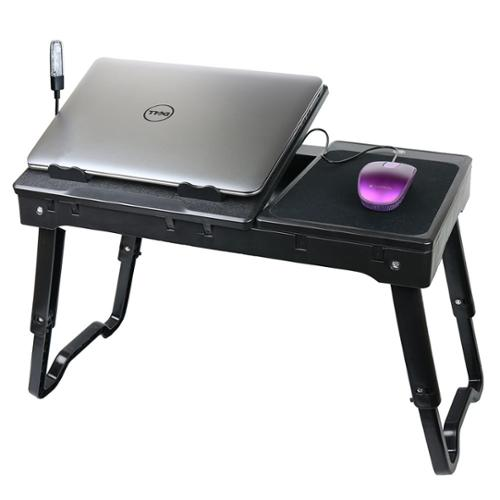 DG SPORTS Adjustable Portable Folding All Purpose Serving Tray Desk Breakfast Desk with Tilting Top