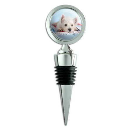 - West Highland Terrier Westie Puppy Dog Beach Towel Wine Bottle Stopper
