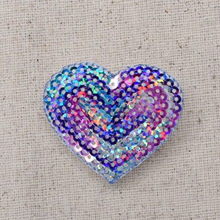 Multicolor - Valentine Sequin Heart - Medium - 1.75