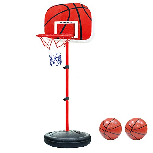 Pellor 170cm Adjustable Basketball Back Board Stand & Hoop Set For Children Kids (170cm) by Pellor