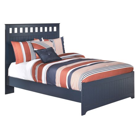 Signature Design By Ashley Leo Youth Panel Bed Blue Walmartcom