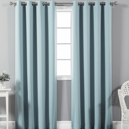 Best Home Fashion, Inc. Solid Blackout Thermal Rod Pocket Single Curtain Panel
