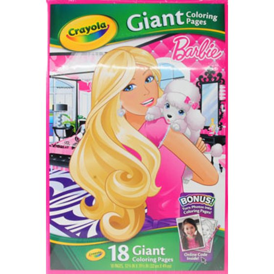 73 Top Crayola Giant Coloring Pages Barbie  Images