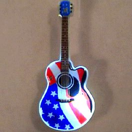 USA Guitar Flashing Body Light Lapel -