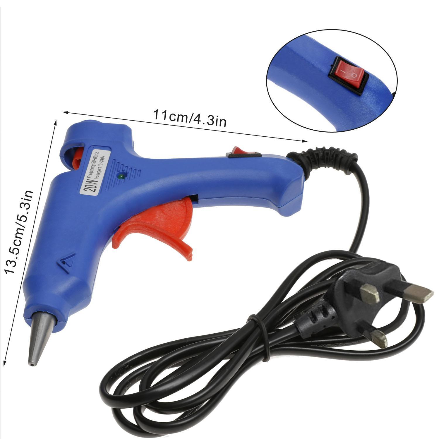 Shopifystore 20W Mini Electric Hot Melt Mini Glue Gun Melting Glue Gun Blue( US Plug) SPTE