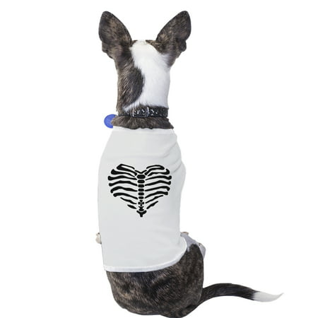 Heart Skeleton Funny Halloween Costume Tshirt For Small Dogs Gifts - Funny Halloween Skeleton Quotes