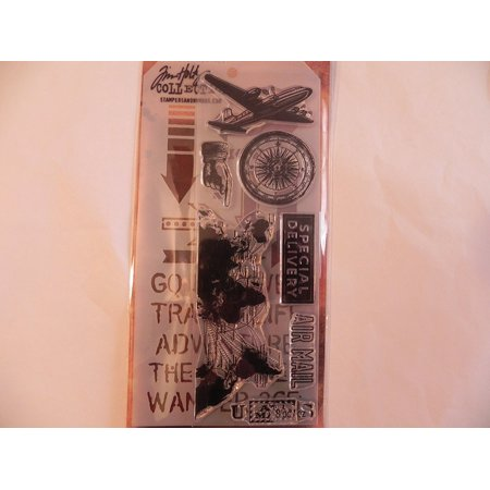 Stamper's Anonymous Collection Stamp & Stencil - Travel, This item is used for Scrapbook, Card Making, Paper Crafting & Mixed Media. By Tim
