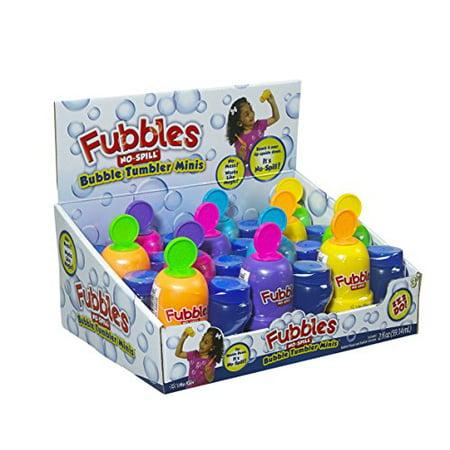 Little Kids Fubbles No-Spill Bubble Tumbler Minis Party Favor 12 pack, Includes 2oz bubble solution and a wand per bottle (assorted colors) - image 4 of 4
