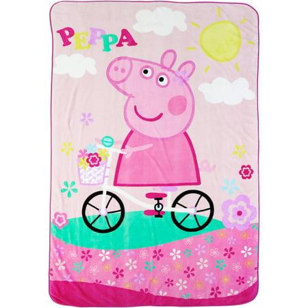Peppa Pig Bike Ride With Peppa Blanket