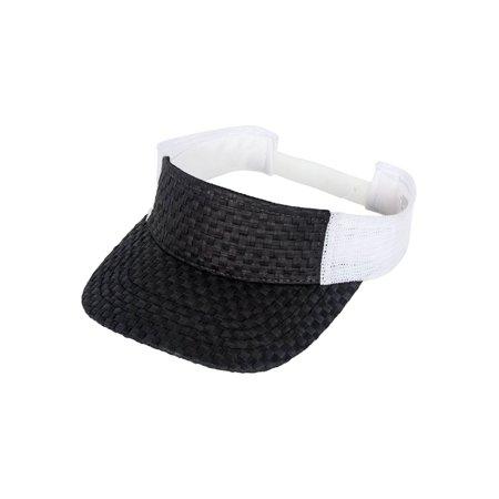 TopHeadwear Straw Summer Sun Visor Hat Cap - Walmart.com 58514d1f736