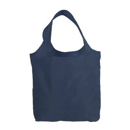 Picnic Shopping Travel Nylon Folding Shoulder Hand Carrier Storage Bag Navy Blue