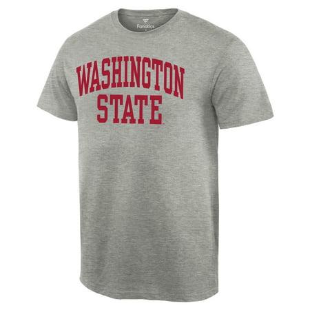 Washington State Cougars Basic Arch T-Shirt - Gray - Halloween Races Washington State