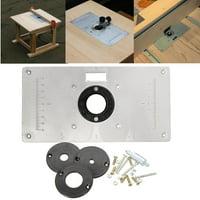 Routers walmart aluminum metal sliver router table insert plate insert rings diy woodworking keyboard keysfo Gallery
