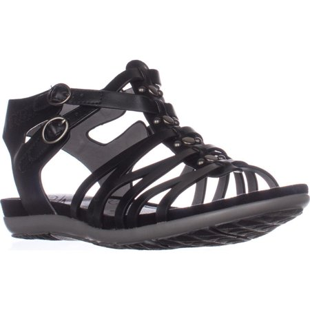 Womens Bare Traps Robbie Gladiator Sandals, Black, 5.5 US