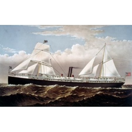 Usa State Of California Pacific Coast Steamship Cos Steamer Goodall Perkins   Co Currier   Ives Usa Washington Dc Library Of Congress Poster Print