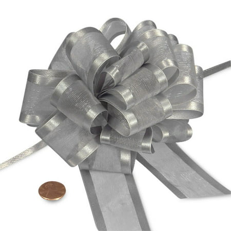 Silver Sheer Pull Bow with Satin Edges 4