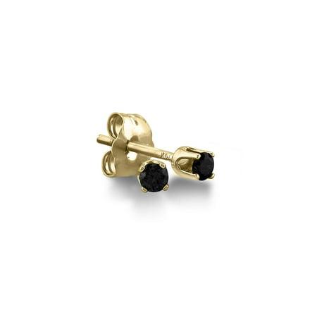 1/5ct Black Diamond Stud Earrings in 10K Gold