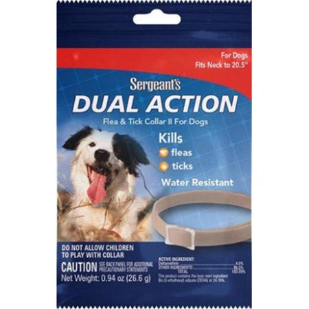 Sergeants Pet Products 03284 Collier Sergents Dual Action pour chiens contre les puces et les tiques - image 1 de 1