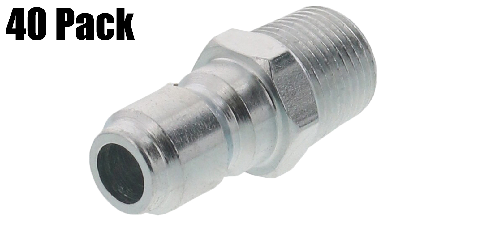 """General Pump Pressure Washer 3 8"""" Male NPT-M Quick Connect Plug 4000 PSI (QTY 40) by General Pump"""