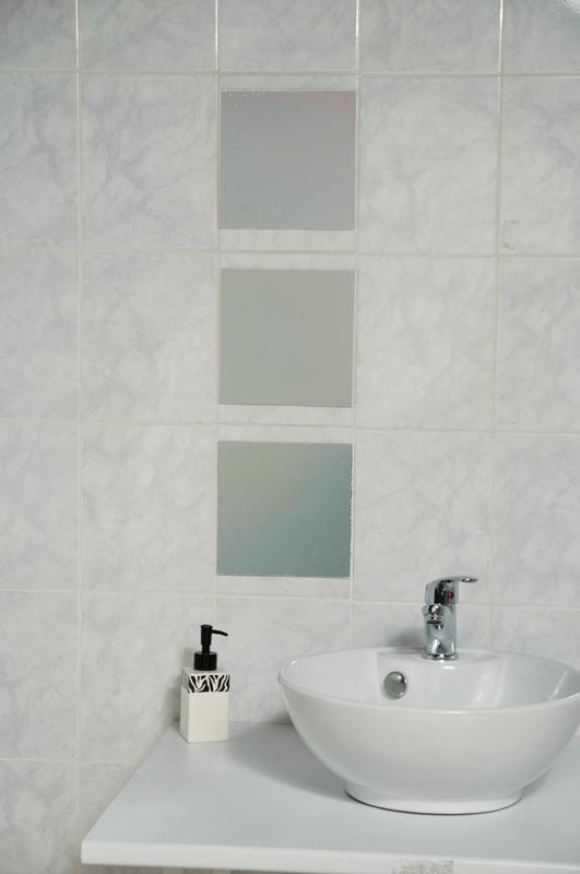 "Decorative Wall Bathroom Self Adhesive Square Mirrors 7.8""x7.8\ by Evideco"