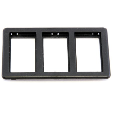 Miles Sunroof (Red Hound Auto Switch Bezel Black 3-Slot Compatible with Jaguar XJS 1989-1996 for Power Windows (Sunroof or Convertible Top))