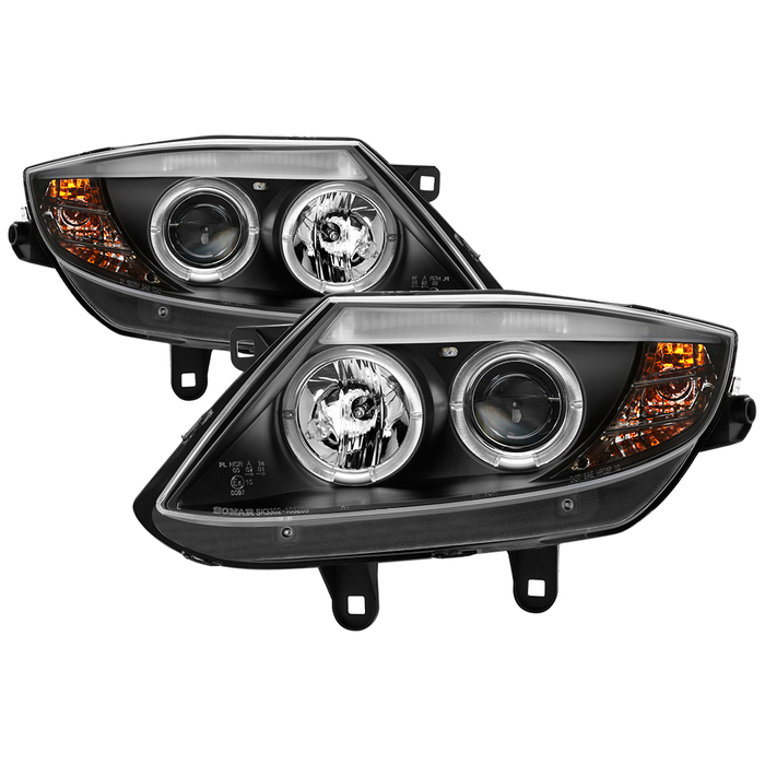 Spyder BMW Z4 03-08 Projector Headlights - Xenon/HID Model Only ( Not Compatible With Halogen Model ) ( Delete Stock HID Unit )- LED Halo - Black - H