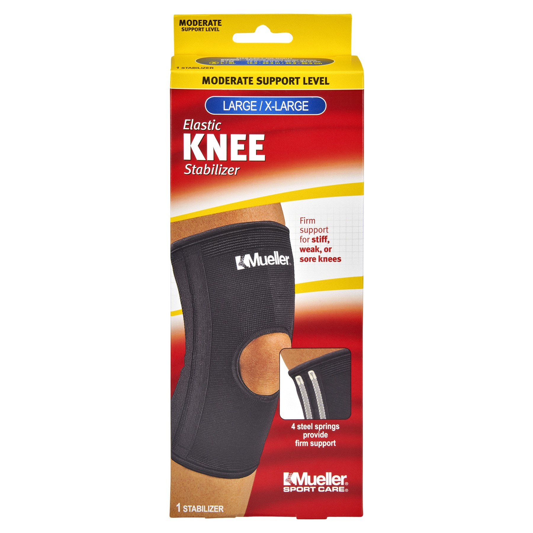 Mueller Sport Care Moderate Support Large/X-Large Elastic Knee Stabilizer, 1.0 CT