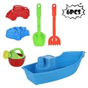Tuscom 6pc Kids Beach Toys Set Molds Tools, Sandbox Toys On Summer Beach Holiday