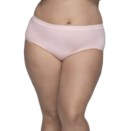 5db173b80fa Fit for Me by Fruit of the Loom - Women's Plus Assorted Seamless Brief  Panties, 6 Pack - Walmart.com