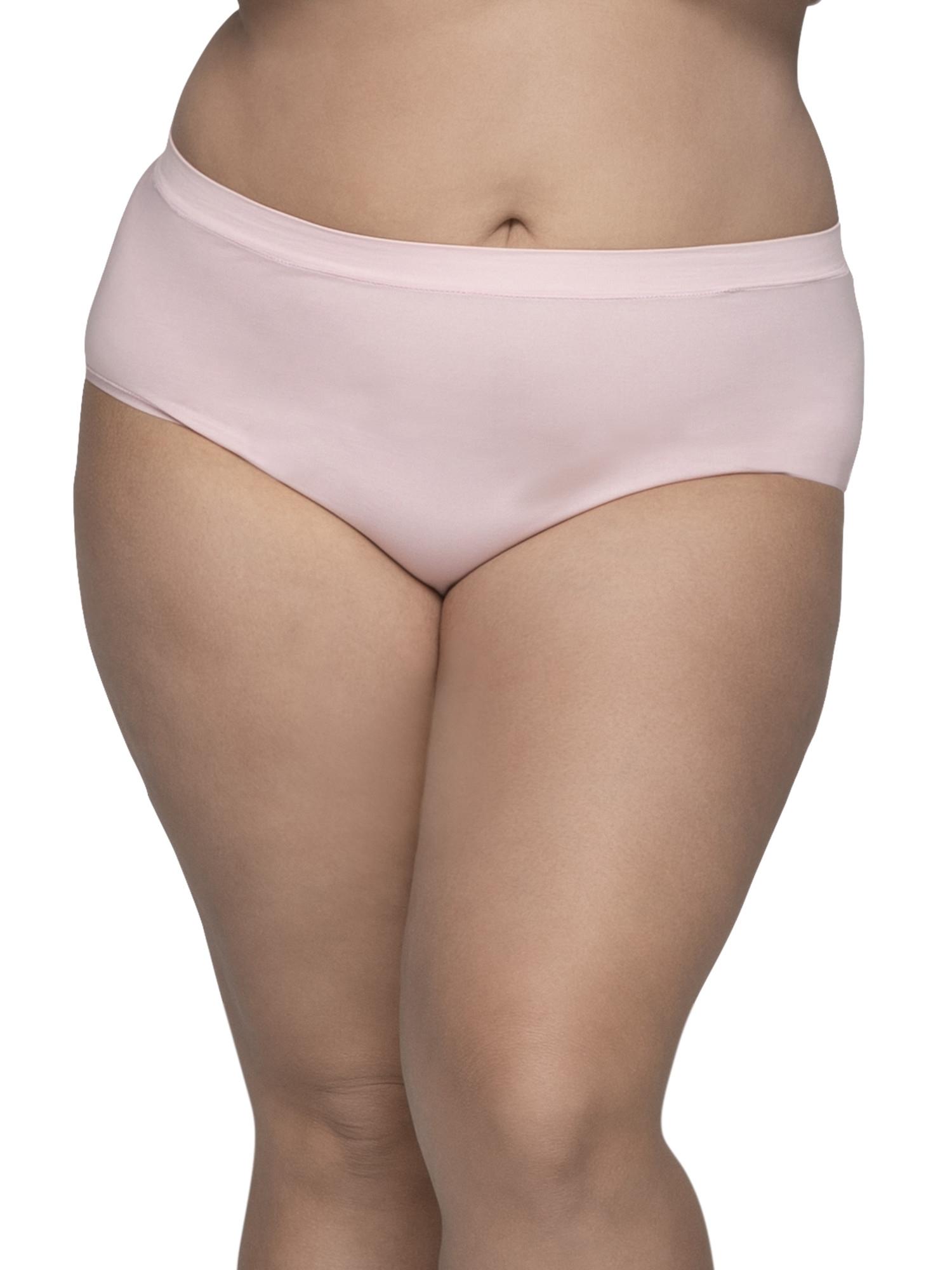 Women's Plus Assorted Seamless Brief Panties, 6 Pack