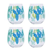Mainstays Cactus Stemless Wine Glass, Set of 4