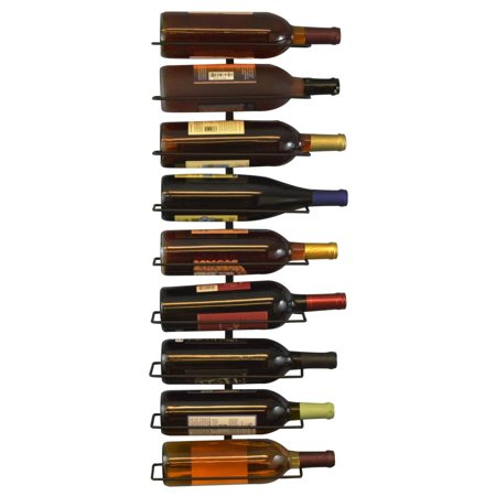 Southern Homewares Wall Mount Wine Bottle Rack, Holds Up To 9 Bottles