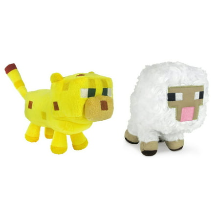 Minecraft Sheep and Ocelot Plush Set, 6-8 Inches, Authentic Minecraft Plush Toy. High Quality. Safe to play with. By - Minecraft Ocelot