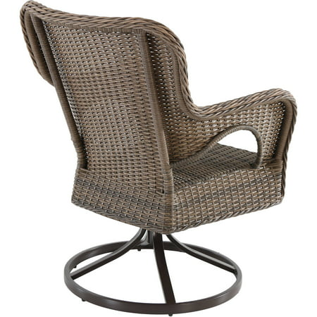 Better Homes And Gardens Camrose Farmhouse Mix And Match Wicker Swivel Chairs Set Of 2 Best