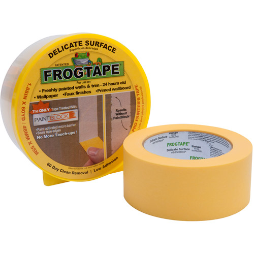 FrogTape Delicate Surface Pro Painter's Tape, 1.88 inches x 60 yards