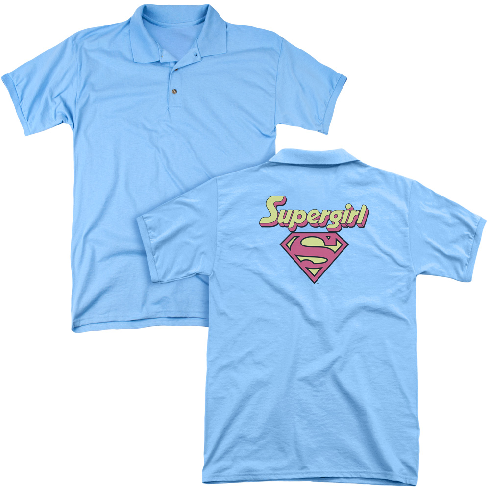 DC Comics I'm A Supergirl Adult Back Print Polo T-Shirt