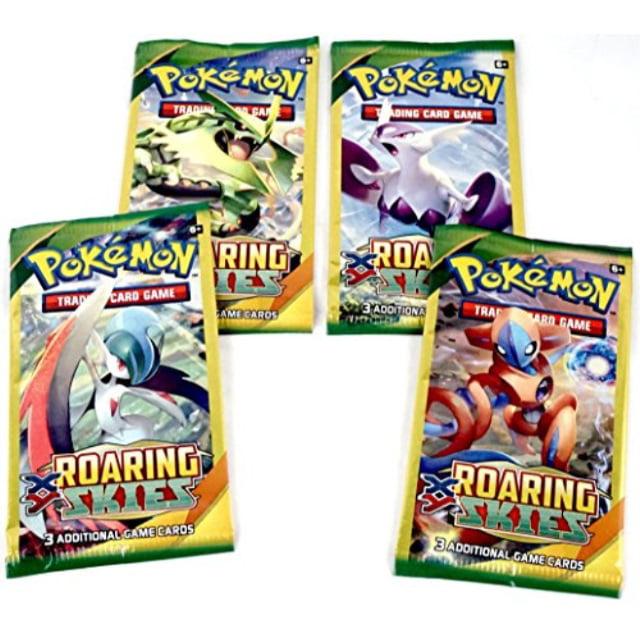 Pokemon XY Roaring Skies Sleeved Booster lot of 4 Packs Art Set