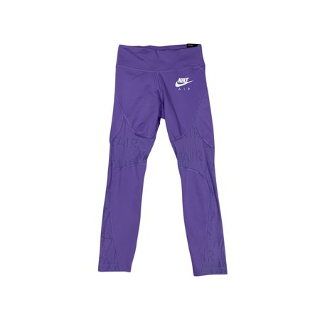 Nike Air Womens Dri-Fit Tight Fit Crop Length Running Tights Purple CI0288-567 N (XS)