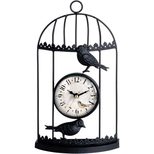 Better Homes And Gardens Curved Birdcage Table Clock