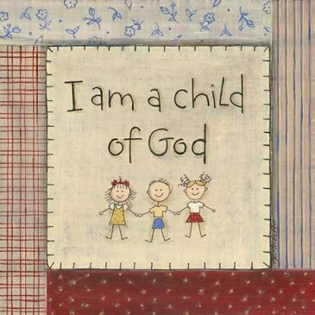 I Am A Child Of God Canvas Art   Karen Tribbet  24 X 24
