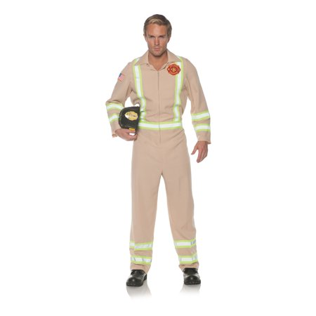 Tan Frontline Mens Adult Fire Fighter Rescue Team Halloween - Simple Halloween Line Art