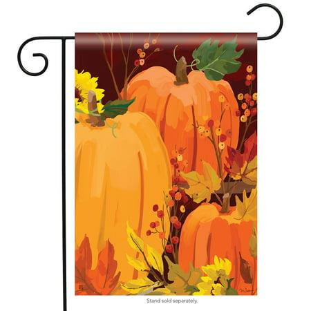 harvest pumpkin welcome fall garden flag sunflower autumn banner