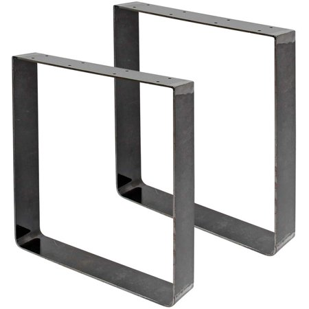 """Square frame legs with heavy duty rolled iron for a console table, set of 2, authentic vintage metal, 16' hight with 16"""" length and 3.9"""" width. - image 2 de 2"""